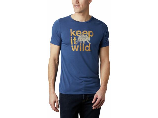 Columbia Terra Vale II T-shirt Homme, carbon keep it wild